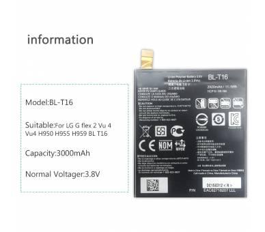 Bateria Original para LG FLEX 2 H955 - BL-T16 LS996 H950 ARREGLATELO - 8