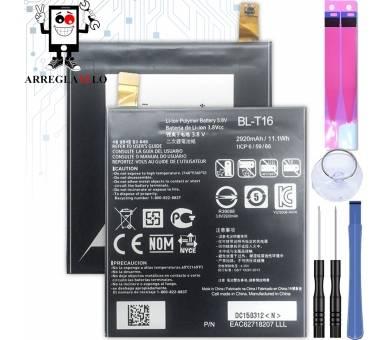 Bateria Original para LG FLEX 2 H955 - BL-T16 LS996 H950 ARREGLATELO - 1