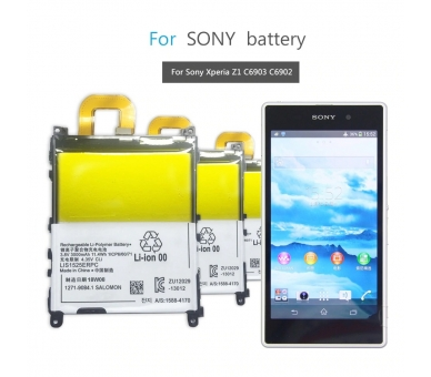 Battery For Sony Xperia Z1 , Part Number: 1271-9084 ARREGLATELO - 5