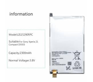 Bateria para Sony Xperia Z1 Compact M51W Z1C D5503, MPN Original LIS1529ERPC ARREGLATELO - 2