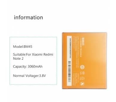 Batterij voor Xiaomi Hongmi Redmi Note 2, originele MPN: BM45 ARREGLATELO - 2