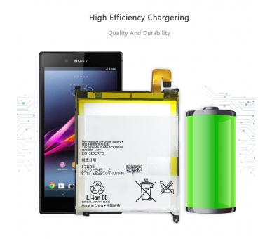 Batterij voor Sony XPERIA Z ULTRA C6802 XL39h, MPN Origineel LIS1520ERPC ARREGLATELO - 9
