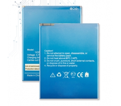 Batterij voor ELEPHONE P6000 - originele capaciteit ARREGLATELO - 1