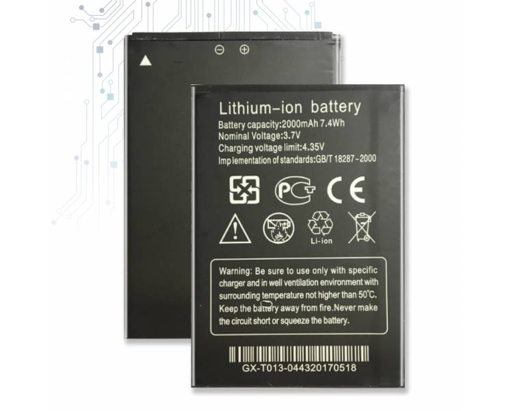 Batterij voor THL W200 W200S W200C, MPN Origineel THL-W200 ARREGLATELO - 1