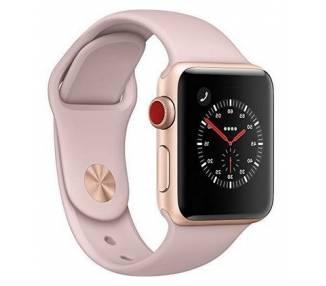 Apple Watch (Series 3) 38 - Oro Rosa Oro - Correa Deportiva Rosa  - 1
