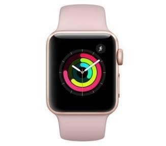 Apple Watch (Series 3) 38 mm - Oro Rosa Oro - Correa Deportiva Rosa  - 1
