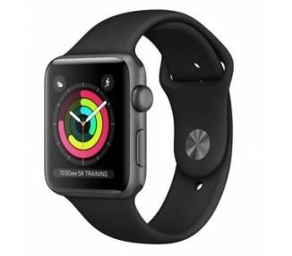 Apple Watch (Series 3) 38 - Aluminio Negro - Correa Deportiva Negro  - 1