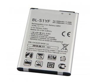 Bateria para LG G4 H815 H818 H819, G4 STYLUS H635, MPN Original: BL-51YF