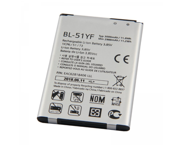 Bateria do LG G4 H815 H818 H819, G4 STYLUS H635, Oryginalny MPN: BL-51YF ARREGLATELO - 1