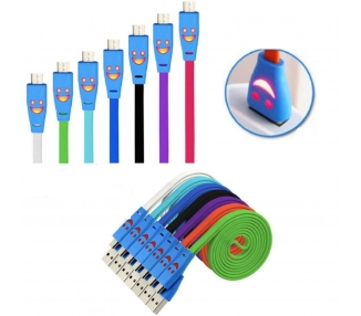 Cable Micro USB con Led para Alcatel 3C BQ Aquaris V Samsung J5 Blackview etc ARREGLATELO - 1