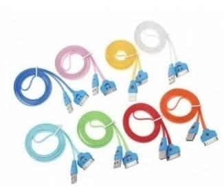 Cable USB con Led para iPhone 4 4S 3G 3GS iPad 2 1 3 ARREGLATELO - 1