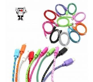 Cable Desenredado para iPhone 5 5s 5c X 10 11 XS XR Pro Max Varios Colores ARREGLATELO - 1