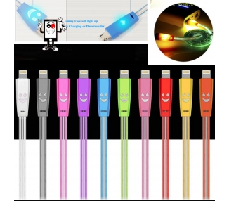 Cable con led para iPhone 5 5s 5c X 10 11 XS XR Pro Max Varios Colores ARREGLATELO - 1
