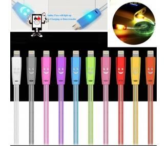 Kabel met led voor iPhone 5 5s 5c X 10 11 XS XR Pro Max Diverse kleuren