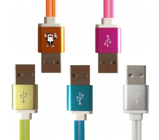 Micro-USB-kabel snellaadmetaal voor Samsung Huawei mobiele smartphone