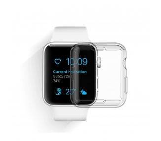 Przezroczyste silikonowe etui do Apple Watch Series 2 i 3 38MM