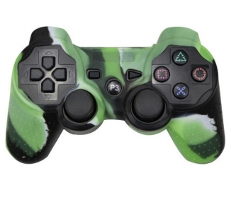 Funda Protectora Silicona para Mando PlayStation 3 PS3 Verde con Blanco