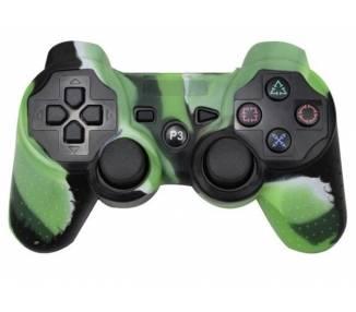 Siliconen beschermhoes voor PlayStation 3 PS3 Controller groen met wit