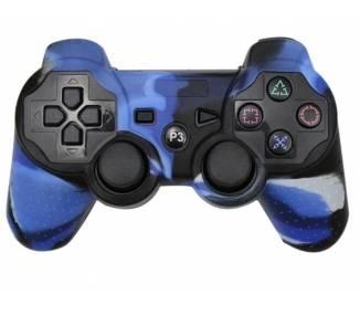 Funda Protectora Silicona para Mando PlayStation 3 PS3 Azul con Blanco