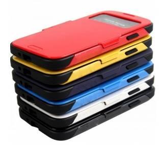 Funda Slim Armor View para Samsung Galaxy S4 Rojo