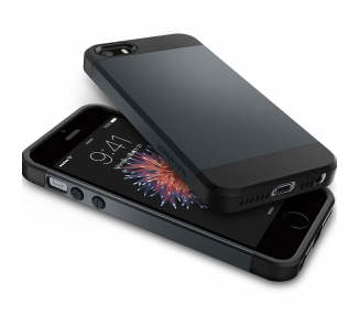 Slim Armor Case voor Apple iPhone 5 5S SE Grijs