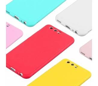 Zachte siliconen TPU Gel Liquid Case voor Huawei P10