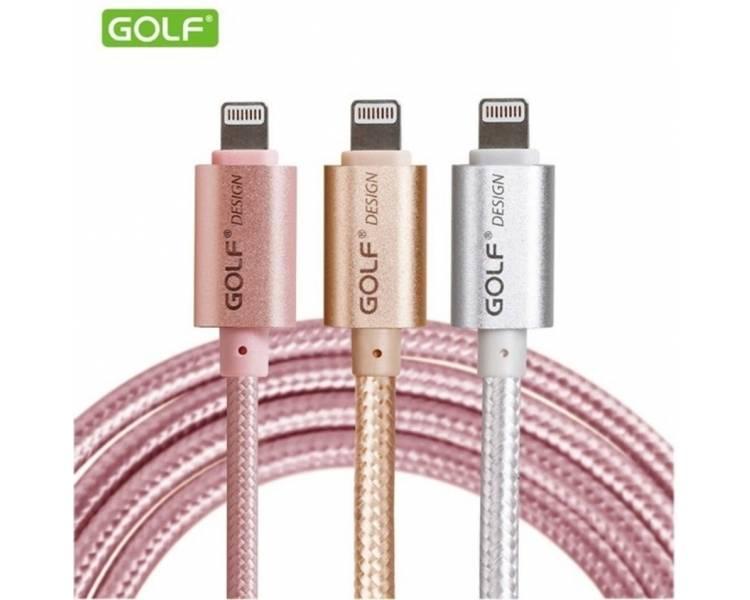 Cable Original GOLF para iPhone 5 5S 5C 6 6S 7 8 Plus X | Color Dorado