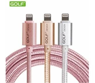 Cable Original GOLF para iPhone 5 5S 5C 6 6S 7 8 Plus X | Color Plata  - 1