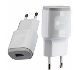 Cargador Original LG MCS-04ED para G2 G3 G4 G6 G5 Flex Nexus K4 K7 Blanco  - 1