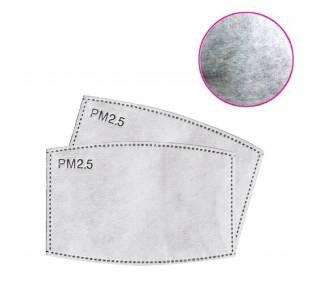10 x Filtros Carbon Activo PM 2.5 para mascarillas 8 x 12 cm ARREGLATELO - 2