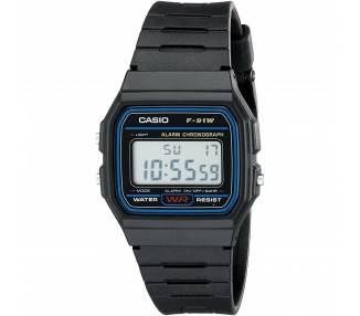 Reloj de Pulsera Digital Casio Casio F91W Original Retro Unisex Negro ARREGLATELO - 1