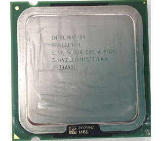 Procesador Intel Pentium 4, 3.06Ghz, 1M, 533, 04A, 3530A921, Costa Rica  - 1