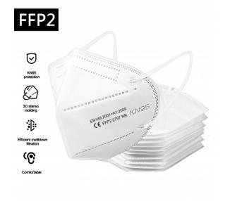 Pack 10 Mascarillas KN95 Autofiltrantes KN95 Superior a FFP2 Sin Valvula ARREGLATELO - 1