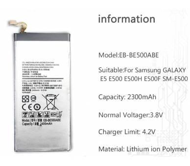 EB-BE500ABE Bateria do Samsunga Galaxy E5 E500 2015 - Oryginalna Pojemność ARREGLATELO - 3