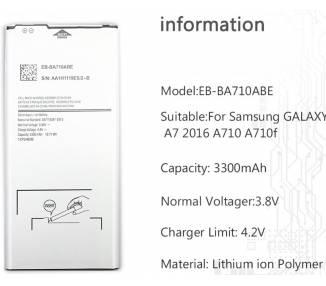 EB-BA710ABE Bateria do Samsunga Galaxy A7 A710 2016 - Oryginalna Pojemność