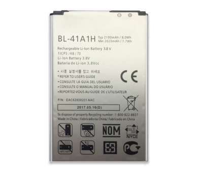 Battery For LG F60 , Part Number: BL-41A1H  - 2