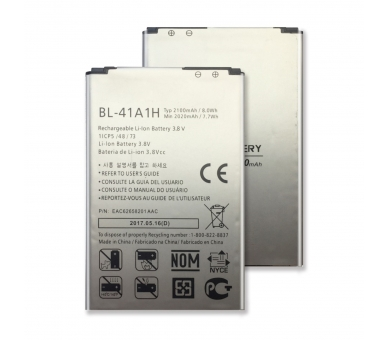 Battery For LG F60 , Part Number: BL-41A1H  - 1