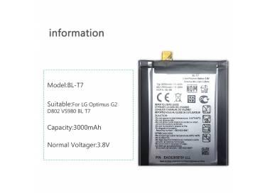 Bateria Original LG BL-T7 BLT7 BL T7 para LG OPTIMUS G2 G 2 D802 D800 D805 D801  - 4