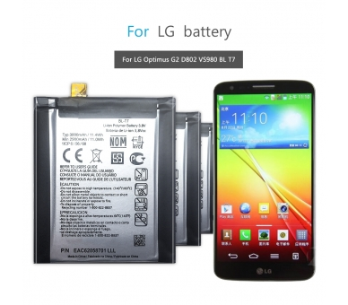 Battery For LG Optimus G2 , Part Number: BL-T7  - 8