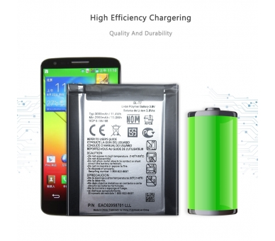 Battery For LG Optimus G2 , Part Number: BL-T7  - 9