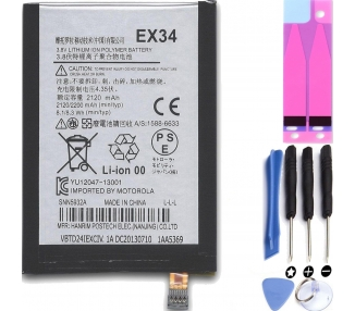 Battery For Motorola Moto X , Part Number: EX34