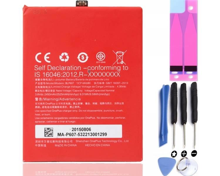 Bateria BLP607 Original para Oneplus X / One Plus X  - 1