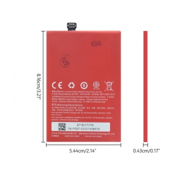 Battery For OnePlus Two , Part Number: BLP597  - 4