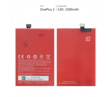 Battery For OnePlus Two , Part Number: BLP597  - 5