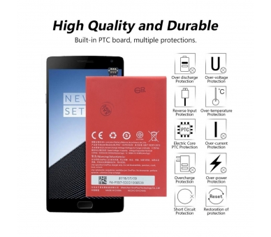 Battery For OnePlus Two , Part Number: BLP597  - 6