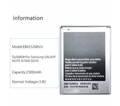 EB615268VU accu geschikt voor de Samsung Galaxy Note 1 i9220 GT N7000  - 2