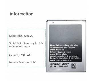 EB615268VU kompatybilny z baterią do Samsung Galaxy Note 1 i9220 GT N7000
