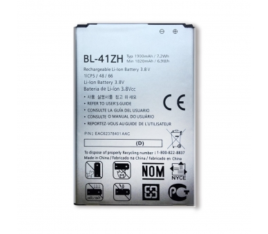 Battery For LG L Fino , Part Number: BL-41ZH  - 2