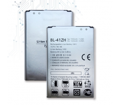 Battery For LG L Fino , Part Number: BL-41ZH  - 1