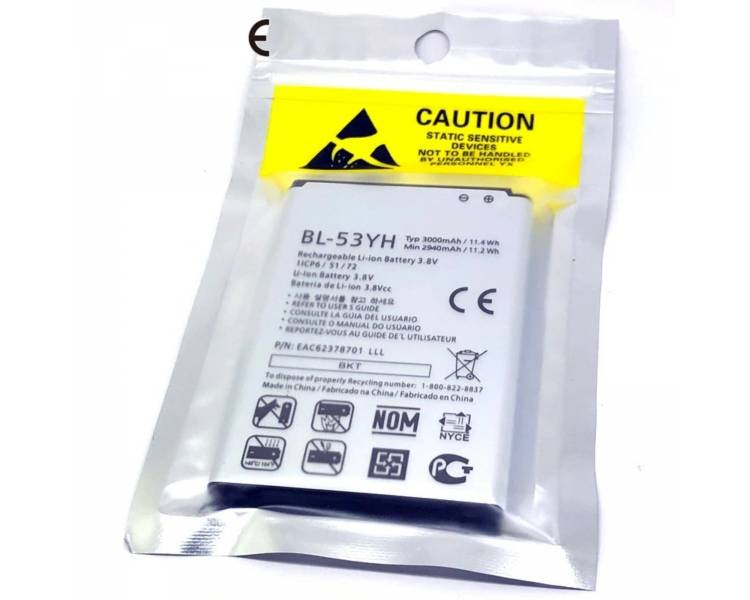 Battery For LG G3 , Part Number: BL-53YH
